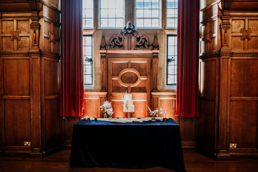 oxford-town-hall-table-wedding-cake-ceremony